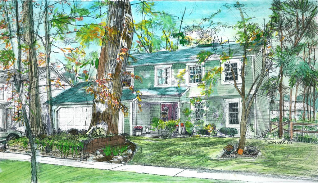 Hand Drawn Illustrations for Residential Clients