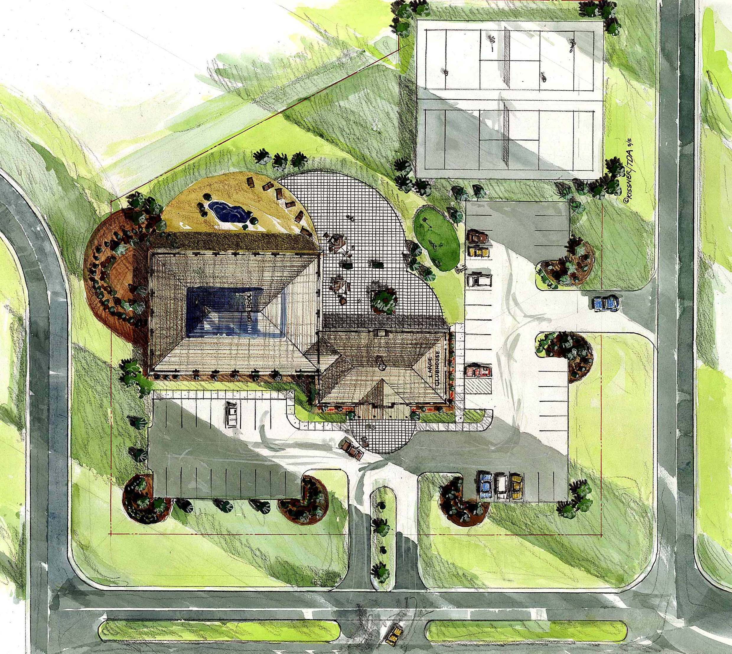 Site Plan for Waterside Community Clubhouse Sylvania Ohio